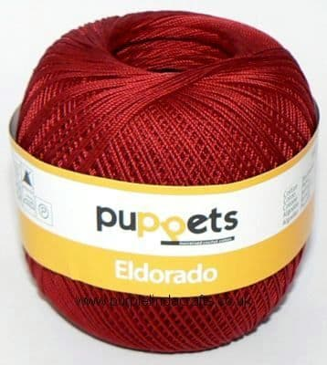 Puppets Eldorado No10 Crochet Cotton 4321 Deep Red 50g
