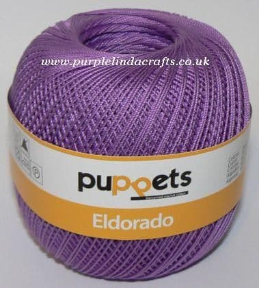 Puppets Eldorado No10 Crochet Cotton 7098 Violet 50g