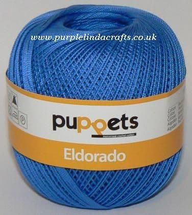 Puppets Eldorado No10 Crochet Cotton 7132 Royal Blue 50g