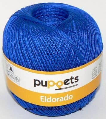 Puppets Eldorado No10 Crochet Cotton 7133 Royal Blue 50g