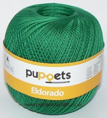 Puppets Eldorado No10 Crochet Cotton 7228 EMERALD Green 50g