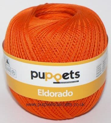 Puppets Eldorado No10 Crochet Cotton 7329 ORANGE 50g