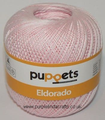 Puppets Eldorado No10 Crochet Cotton 7510 Pale Pink 50g