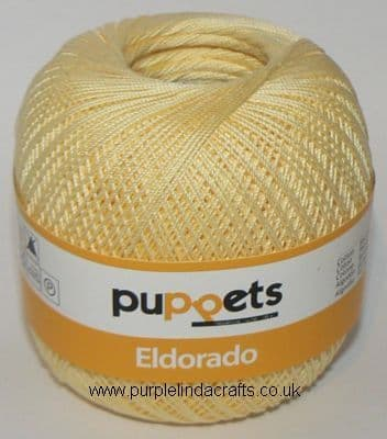 Puppets Eldorado No10 Crochet Cotton 7515 LEMON 50g
