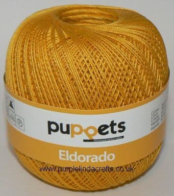 Puppets Eldorado No10 Crochet Cotton 7524 Golden Yellow 50g