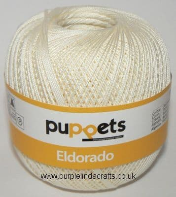 Puppets Eldorado No10 Crochet Cotton 8926 CREAM 50g