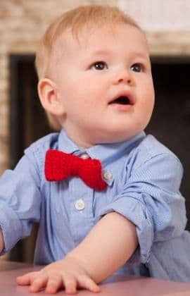 Red Heart ANNE GEDDES Bowtie for Baby Crochet Pattern FREE