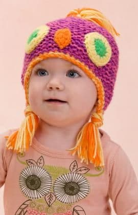 Red Heart ANNE GEDDES Owl Hat Knitting Pattern FREE