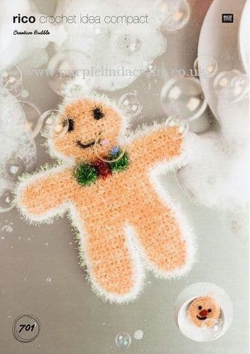 Rico Bubble Christmas Gingerbread Man Crochet Pattern 701