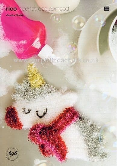 Rico Bubble Christmas Unicorn Crochet Pattern 696