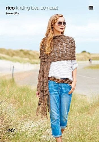 Rico Fashion Flow Sweater and Shawl Knitting Pattern 443