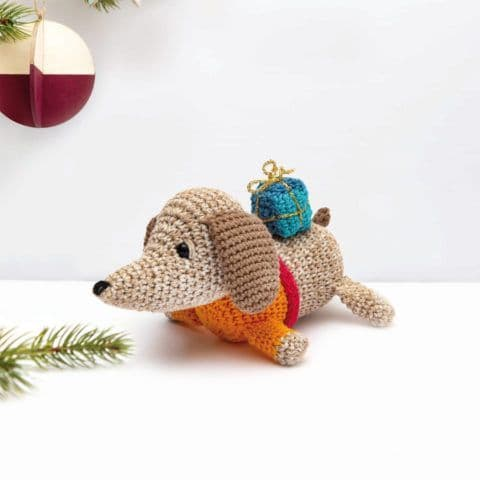 Ricorumi Christmas Crochet Along DOG Instructions Free