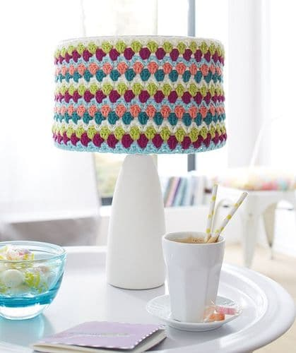 Schachenmayr Sun City Lamp Shade and Vase Cover Crochet Pattern FREE with purchase