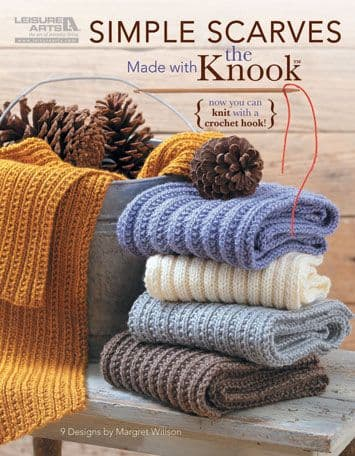 Simple Scarves made with the KNOOK Book 5779 DISCONTINUED