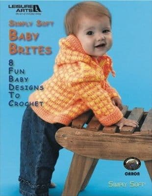 Simply Soft Baby Brites Crochet Pattern Book LA 4100 DISCONTINUED