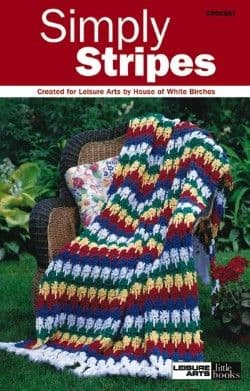 Simply Stripes Afghans Crochet Pattern Book A5 LA 75141 DISCONTINUED