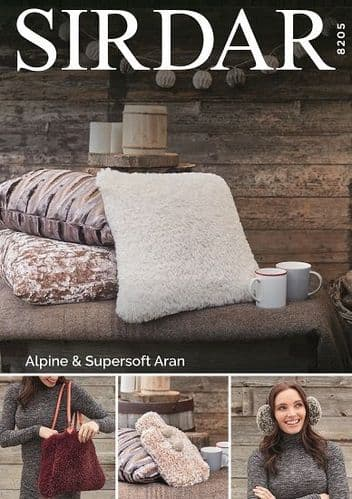 Sirdar Alpine Accessories Knitting Pattern 8205