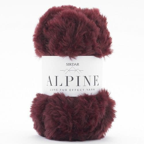Sirdar Alpine Fur Yarn 405 Oxblood