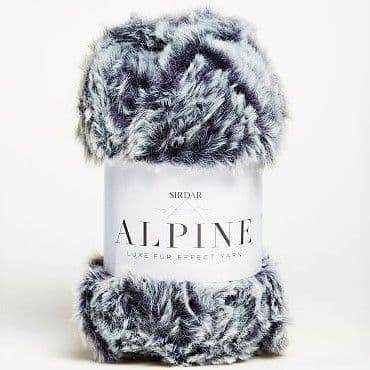 Sirdar Alpine Fur Yarn 406 Midnight