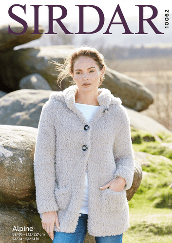 Sirdar Alpine Hooded Jacket Knitting Pattern 10062