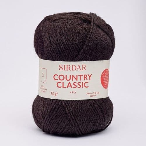 Sirdar Country Classic 4ply 973 Black