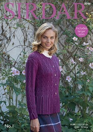 Sirdar No.1 Cardigan Knitting Pattern 8046