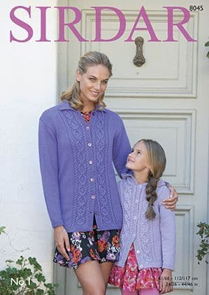 Sirdar No.1 Jacket and Cardigan Knitting Pattern 8045