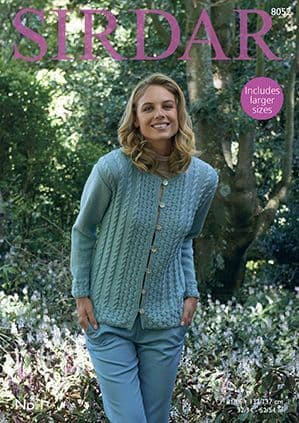 Sirdar No.1 Jacket Knitting Pattern 8052