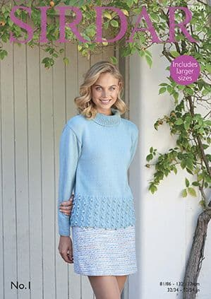 Sirdar No.1 Sweater Knitting Pattern 8049