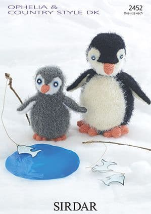 Sirdar Ophelia Penguin Knitting Pattern 2452 REDUCED £1