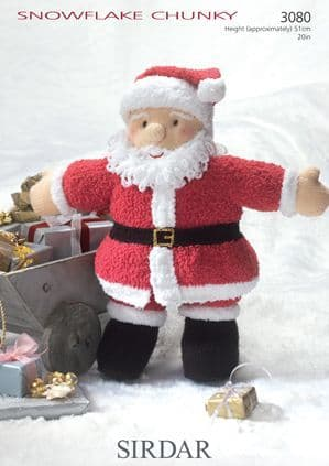Sirdar Snowflake Chunky SANTA Father Christmas Toy Knitting Pattern 3080