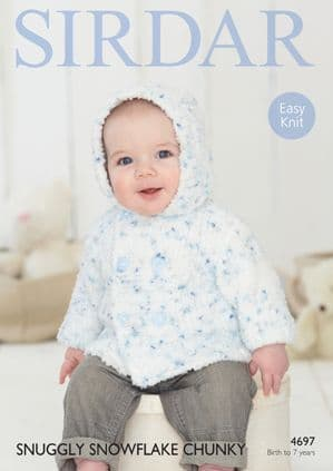 Sirdar Snuggly Snowflake Chunky Boys Jacket Knitting Pattern 4697