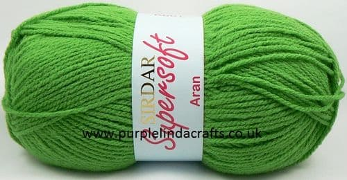 Sirdar Supersoft ARAN Yarn 920 Jolly Green DISCONTINUED