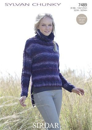 Sirdar Sylvan Sweater Knitting Pattern 7489 REDUCED £1