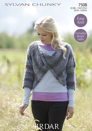 Sirdar Sylvan Top Knitting Pattern 7508 REDUCED £1
