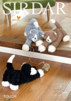 Sirdar TOUCH Fur CATS Knitting Pattern 2474 Kittens