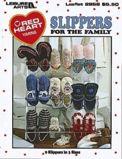 Slippers for the Family Crochet Book LA 2858 DISCONTINUED