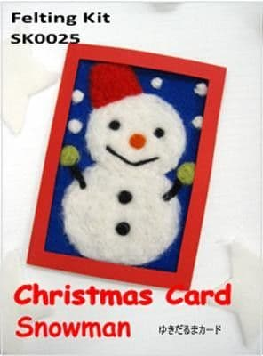 Snowman Christmas Card - Tulip Needle Felting Kit