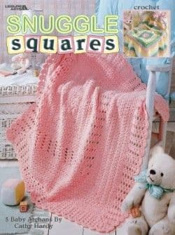 Snuggle Squares Baby Afghans Crochet Pattern Book LA 3224 DISCONTINUED