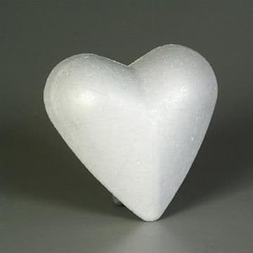 Styrofoam Heart Solid White 12cm