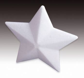 Styrofoam Star Solid White 9cm