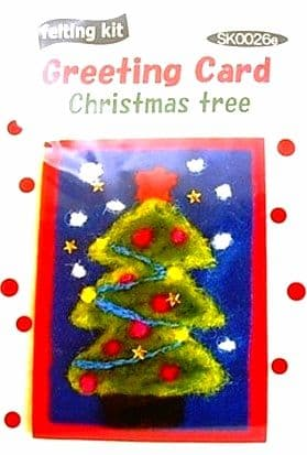 Tree Christmas Card - Tulip Needle Felting Kit