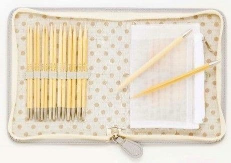 Tulip carry C Long Interchangeable Bamboo Knitting Needle Set