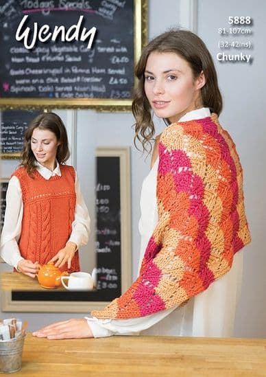 Wendy Supreme Luxury Cotton CHUNKY Knit and Crochet Patterns