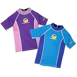 Kids Wetsuit Tops | Konfidence Childrens Zip T-Shirt Rash Vest