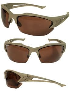 Edge Eyewear Acid Gambit Desert Sand Frame Protective Glasses
