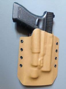 GM Tactical Glock 17 Surefire X300 Light bearing Kydex Holster - Coyote Tan