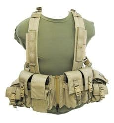 LBT 1961G Load Bearing Chest Rig with Zipper - Coyote Tan